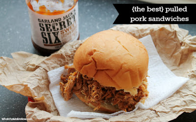 Pulled Pork Sandwich Recipe - pork butt, onion, and ginger ale