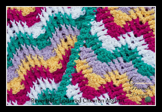 Reversible Textured Chevron Afghan Crochet Pattern