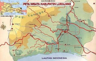 Peta Kabupaten Lumajang - Pariwisata Lumajang