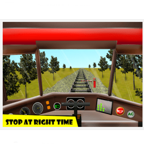 Drive your own small Train on a fast track with this driving simulation android games, Day and Night mode, With real train sounds, train horn.