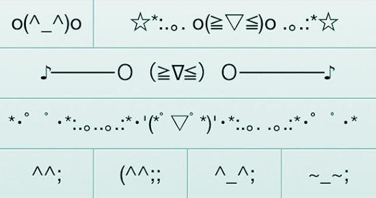 tampilan emoticon jepang emoji untuk anda yang marah, minta maaf