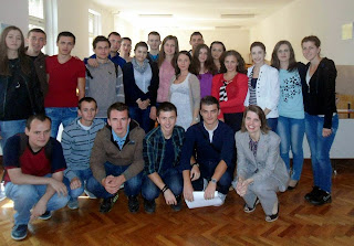 Dr. Muftic and University of Sarajevo students.