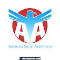 American Target Advertising Logo Design Concept Graphic Design