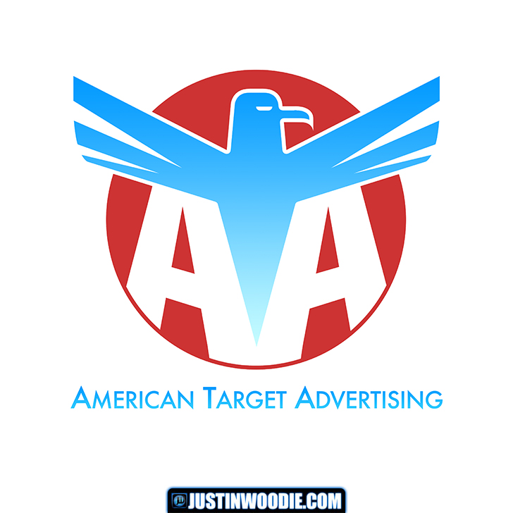 American Target Advertising Logo Design Concept Graphic Design