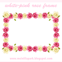 free pink white rose tags
