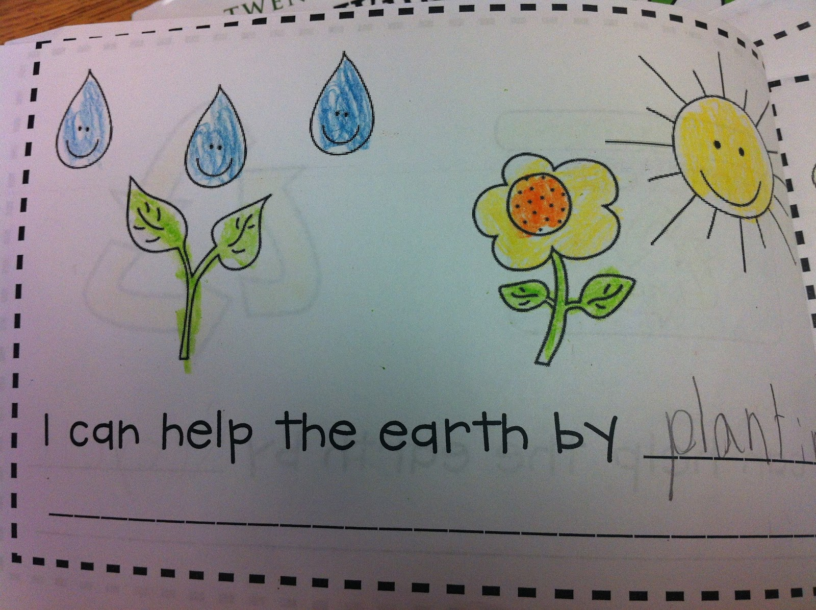 We Did A Few Earth Day Activities At The End Of Week But Will Be Doing More Next Ill Posting About That Soon