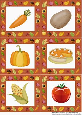 autumn fall vegetables flashcards