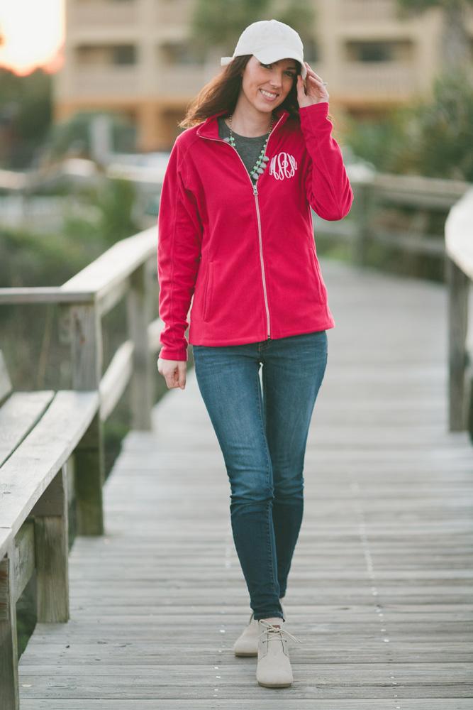 girl walking beach boardwalk in Marley Lilly