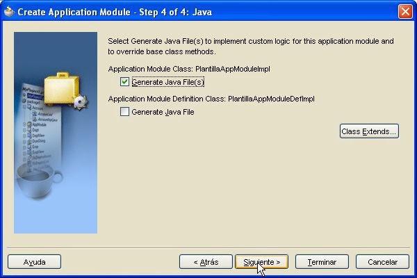 asistente crear ficheros Java