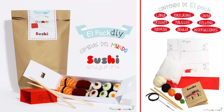 sushi pack amigurumi diy handmade crochet ganchillo házlo tú mismo manualidades japón japan patrones patrón  ideas regalar para valentin