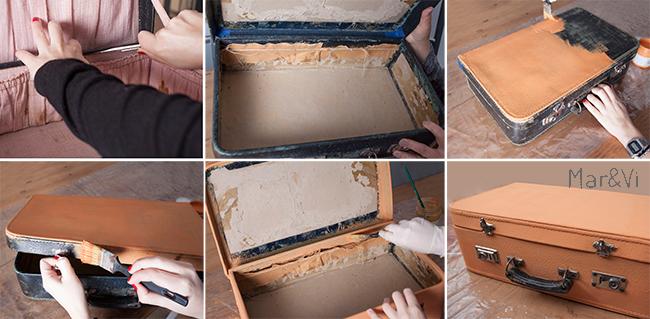 Renovar una maleta vieja con chalk paint paso a paso