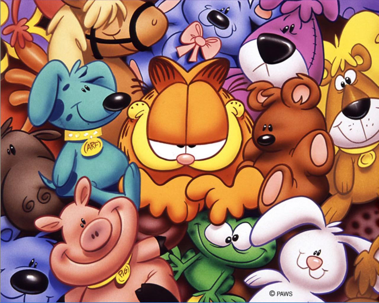 LAMINAS PARA COLOREAR - COLORING PAGES: Garfield para colorear