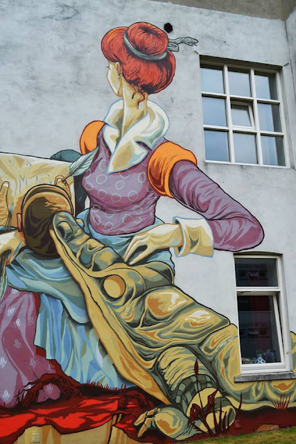 Street Art by Rookie in Heerlen - crocodile detail