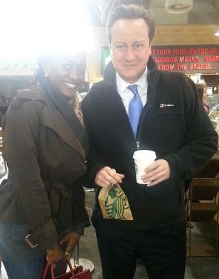Actress Kate Henshaw Spotted With UK Prime Minister, David Cameron