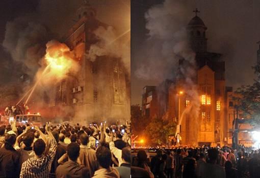 Seorang Wanita Kristen Menikahi Seorang Pria Muslim, Massa Membakar Gereja dan Menewaskan 12 Orang