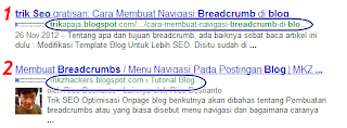 breadcrumbs terindex google yang seo friendly