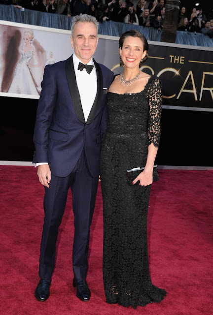 Daniel Day-Lewis y su esposa