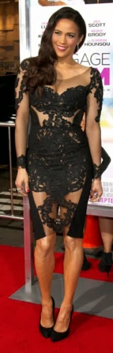 Would you rock Paula Patton's sheer lace dress?