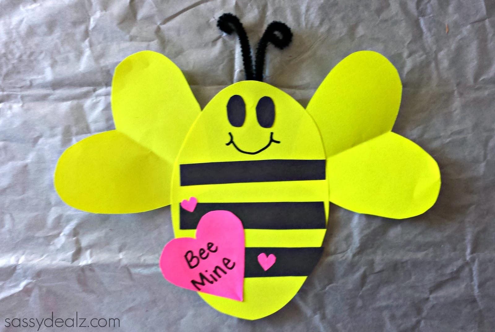 bee mine valentine craft