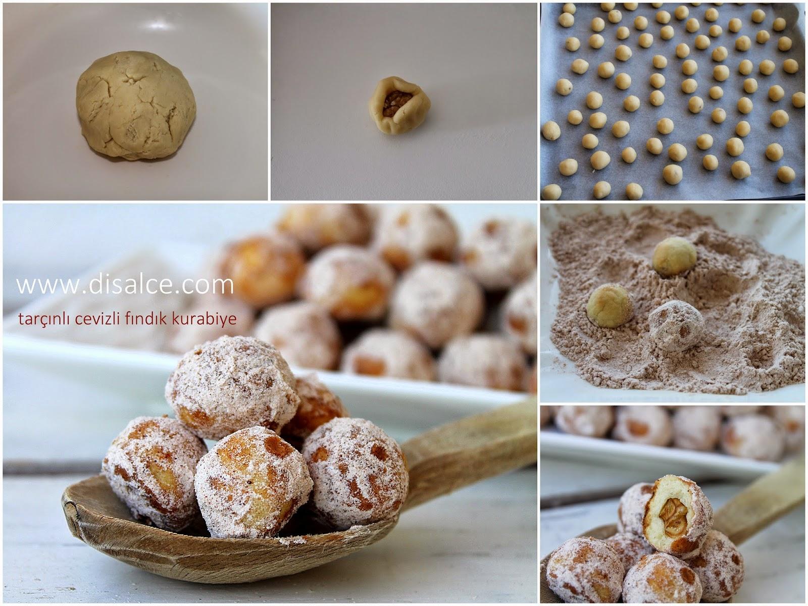 tarçınlı fındık kurabiye