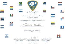 Diploma Asociación ASOLAPO