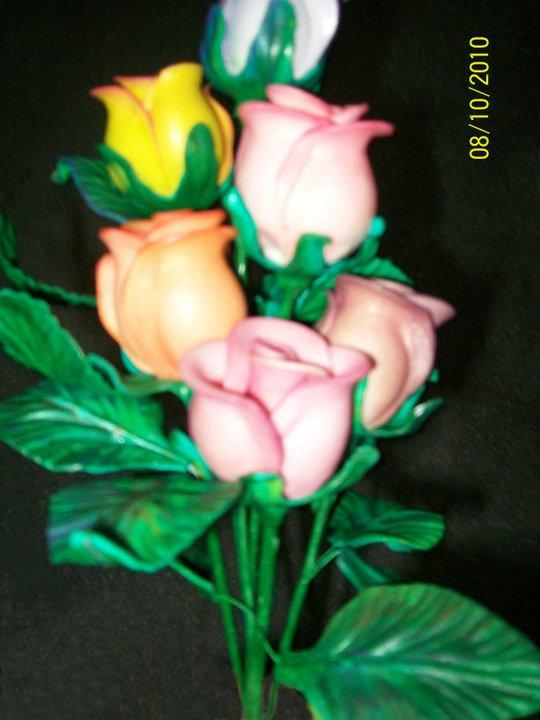 Pimpollos de Rosa en Goma Eva