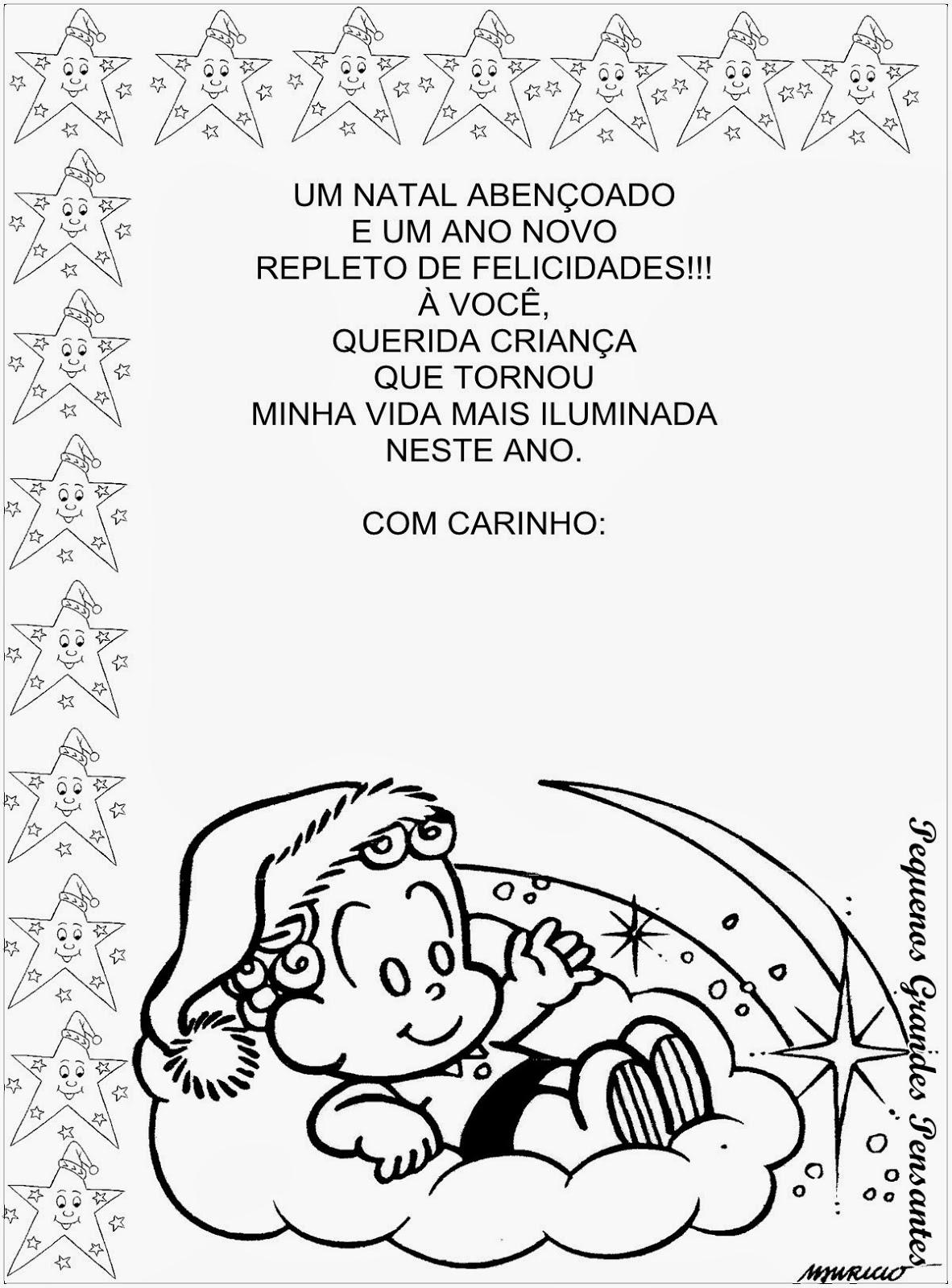 Fabuloso Pequenos Grandes Pensantes.: Mensagem de Natal - Educação Infantil WA74