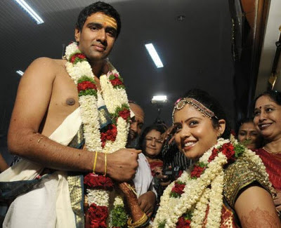 Cricketer Ashwin wedding Photos