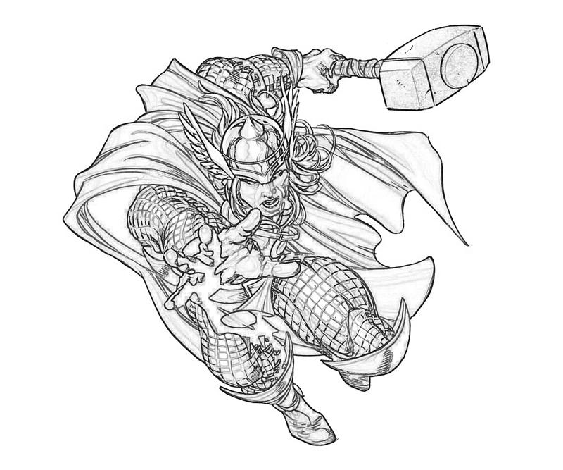 20 Free Printable Thor Coloring Pages: Marvel Vs Capcom Thor Coloring