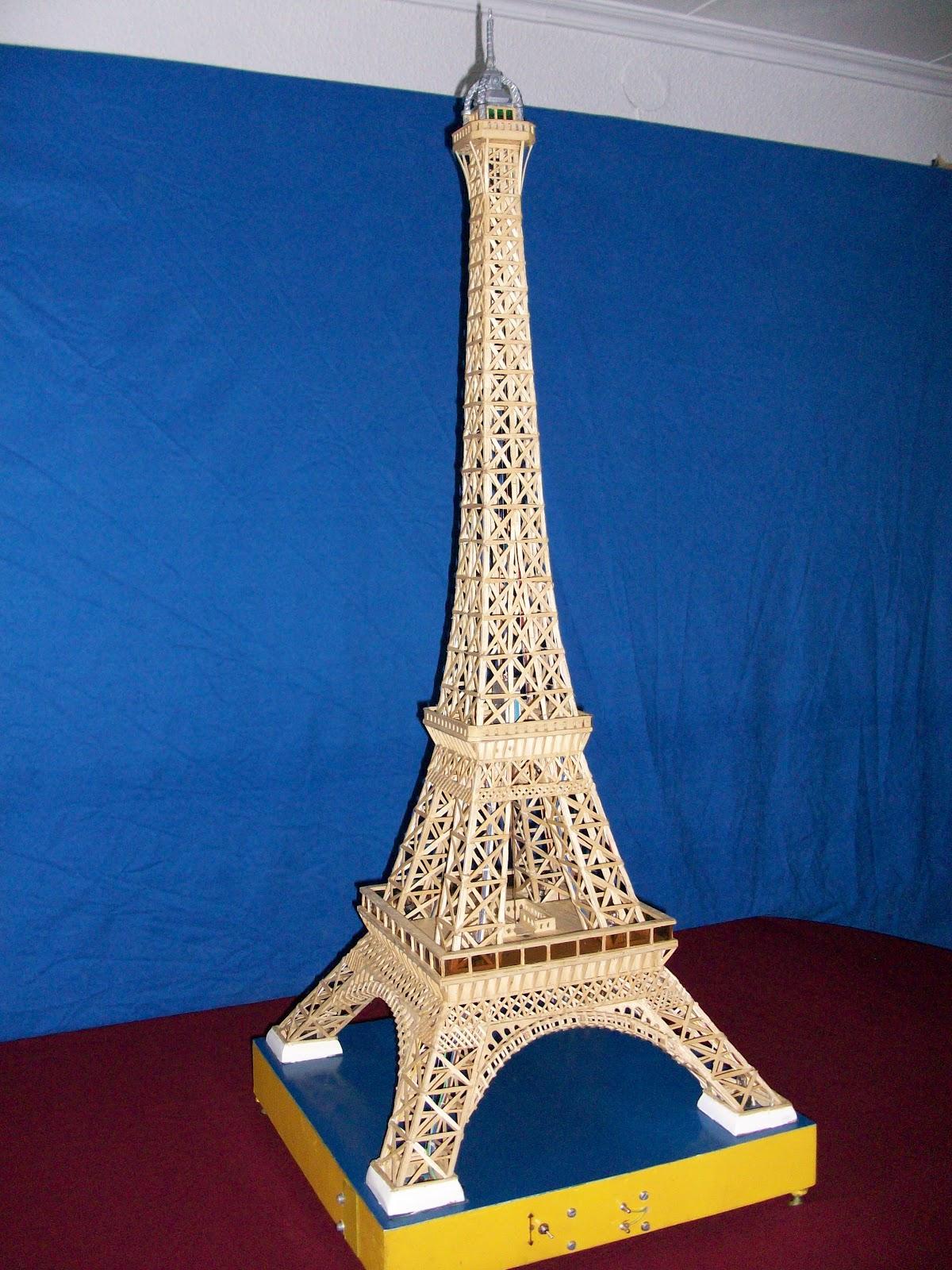 El mundo en palillos especial torre eiffel for Manualidades con palillos de dientes