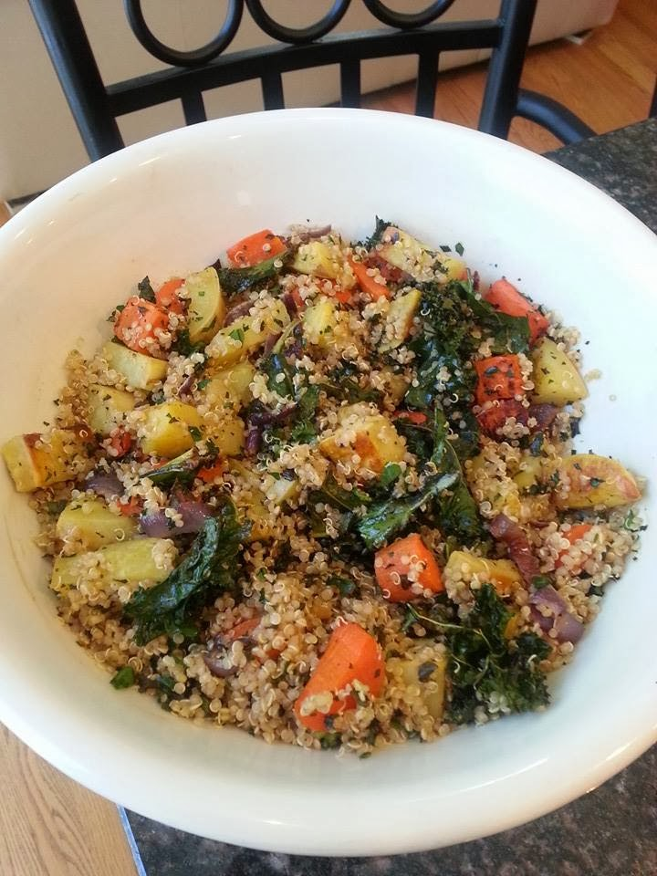 Sarah's Life in Food!: Quinoa Salad with Crispy Kale ...