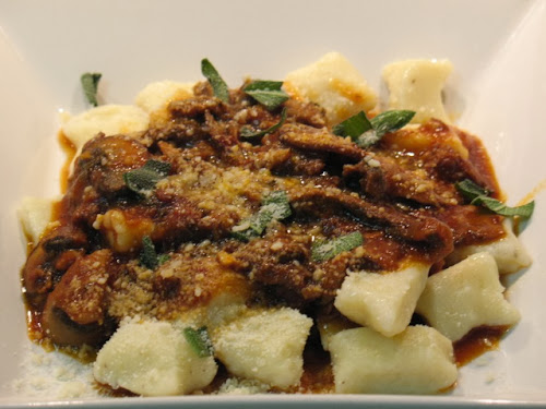Homemade Gnocchi with Sausage-Mushroom Ragu