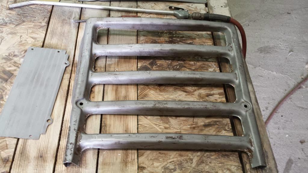 sandblasted tractor parts