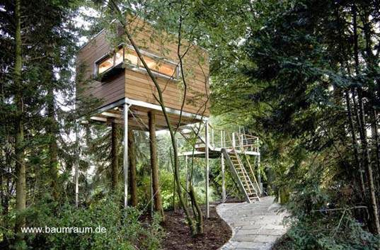 Modelo de casa del árbol contemporánea de Alemania