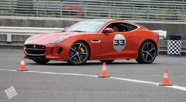 Jaguar F-Type R on the autocross course
