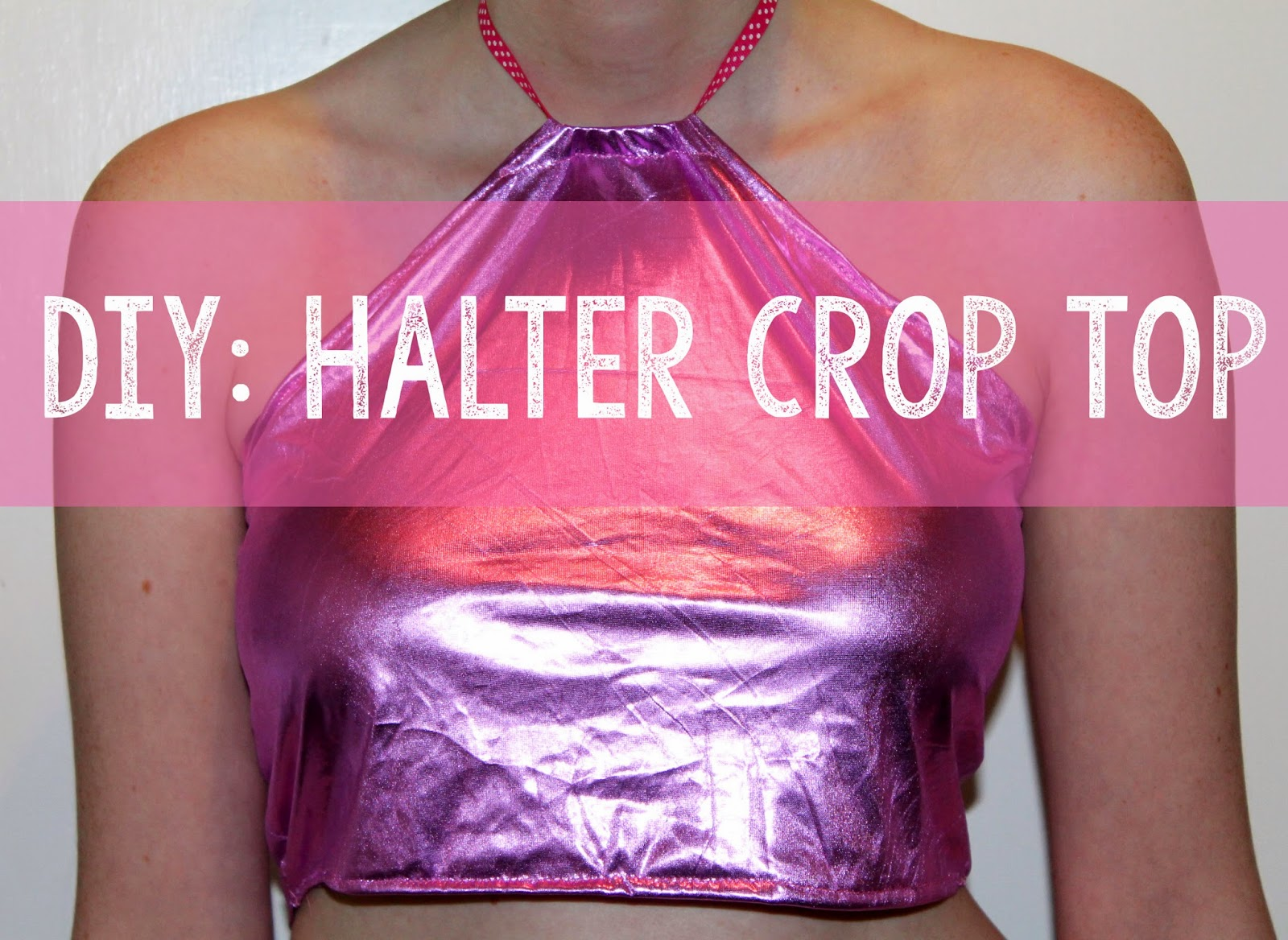 DIY sewing tutorial on how to make your own halter crop top