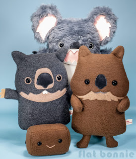 Flat-Bonnie-Koala-Wombat-Quokka-plush-dropbear-stuffed-animal-drop-bear-Weirdo
