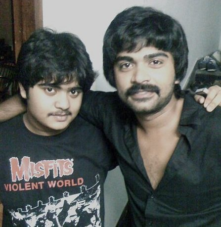 Silambarasan with his brother kuralarasan Childhood Sketches