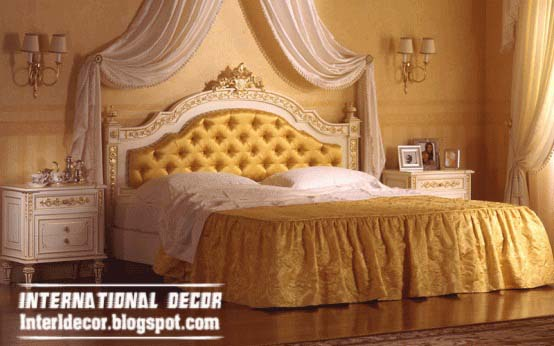 luxury bed tradition design yellow tufted headboard and canopy & Home Exterior Designs: Top luxury beds tradition designs with ...