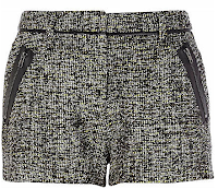 Lime Marl Tweed Shorts