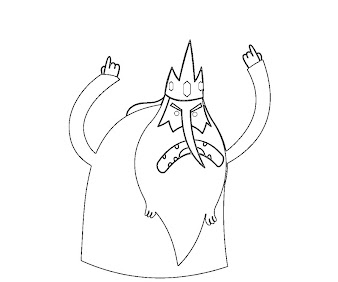 #7 Ice King Coloring Page