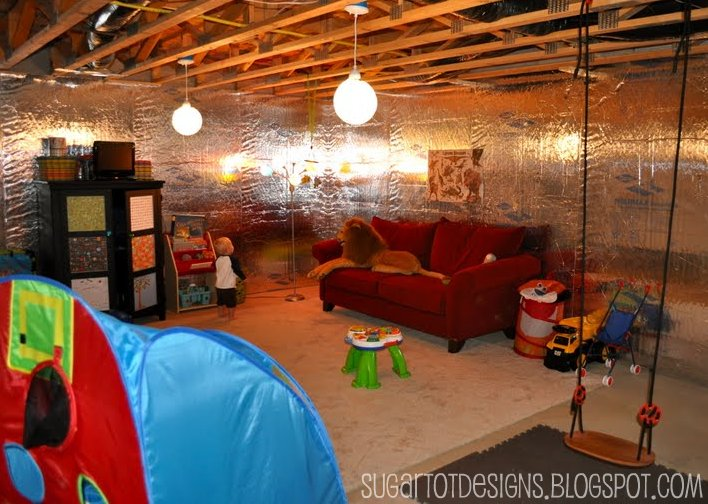 unfinished basement playroom ideas our unfinished basement