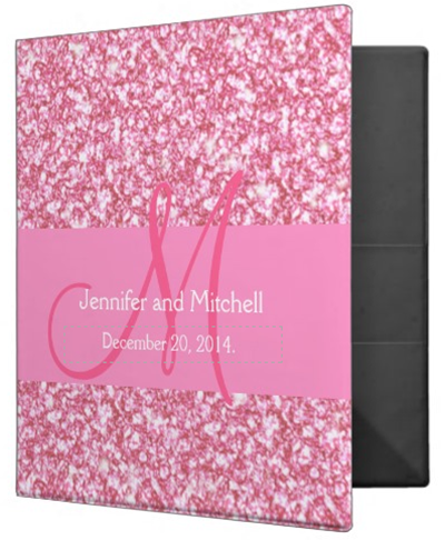 http://www.zazzle.com/wedding_monogram_pink_glitter_planner_printed_binder-127392548507578164?rf=238845468403532898