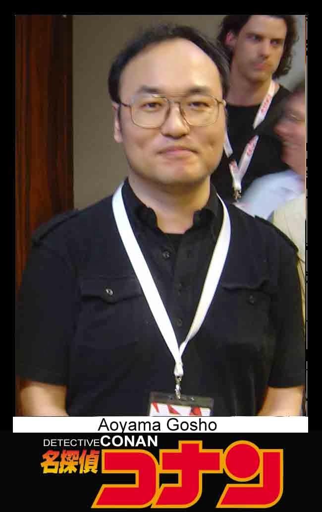 foto Aoyama Gosho pengarang manga Detective Conan