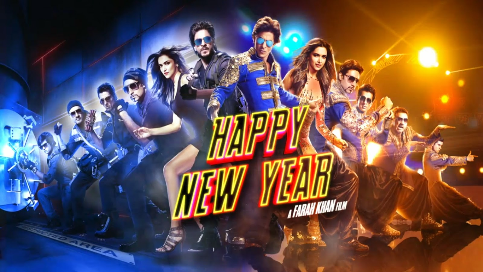 Movie happy new year Dance poster 2014 (Actor and Actress Hd Wallpaper)