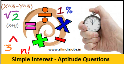 Simple Interest Aptitude Questions and Answers
