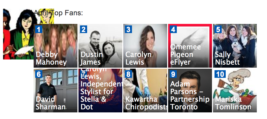 Image showing top 10 Kawartha Lakes Mums Fans