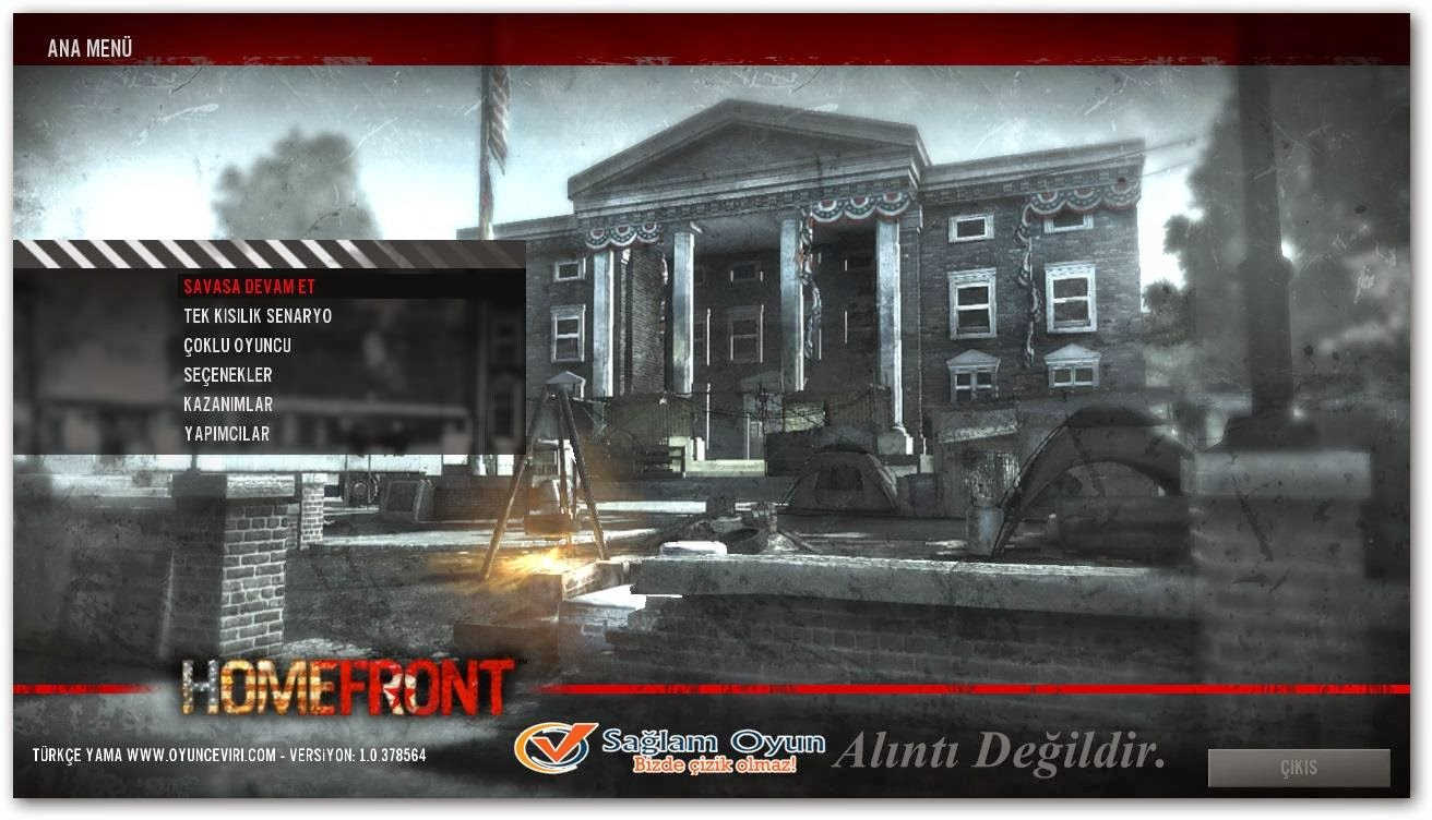 Homefront screen