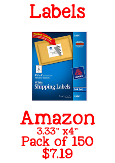 shipping labels, book labels, classroom time savers