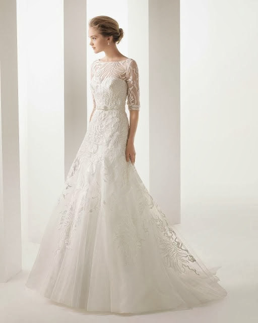 winter wedding gown